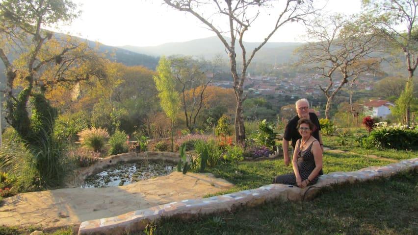 Garden / mountain view over Samaipata
