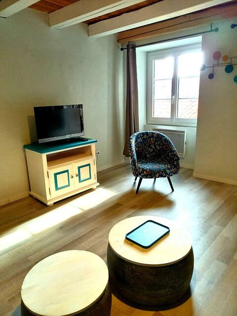 Joli studio et sa terrasse au coeur duvieux Millau