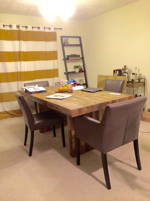 Dining table, work space