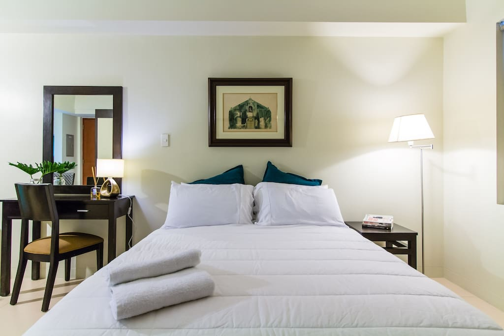 Sink into the  comfy, hotel-quality, Queen sized bed after a long day