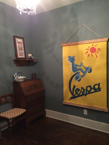 The Vespa Room at Cush Cottage