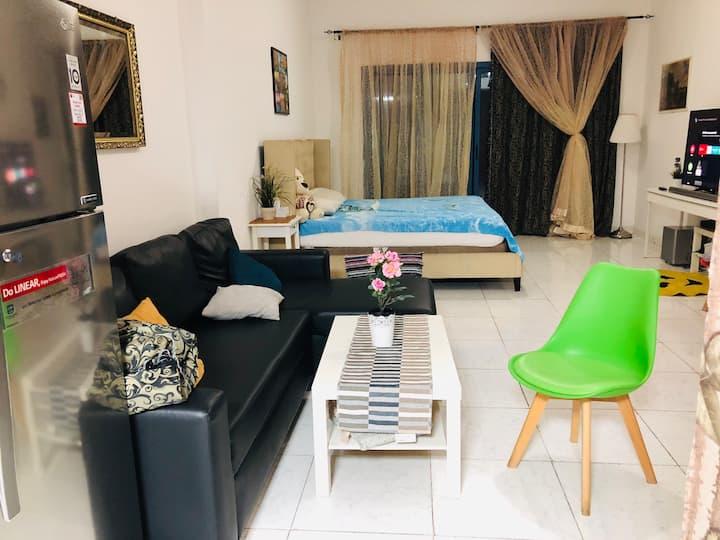 Luxurious furnished studio with big balcony