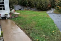 We love all seasons in our yard!  Your sidewalk and driveway are shown here.