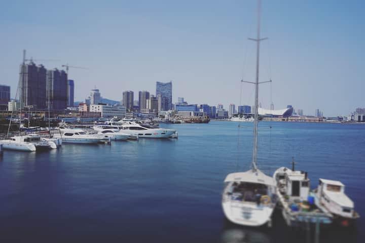 游艇码头露台大窗海景房(幻海)