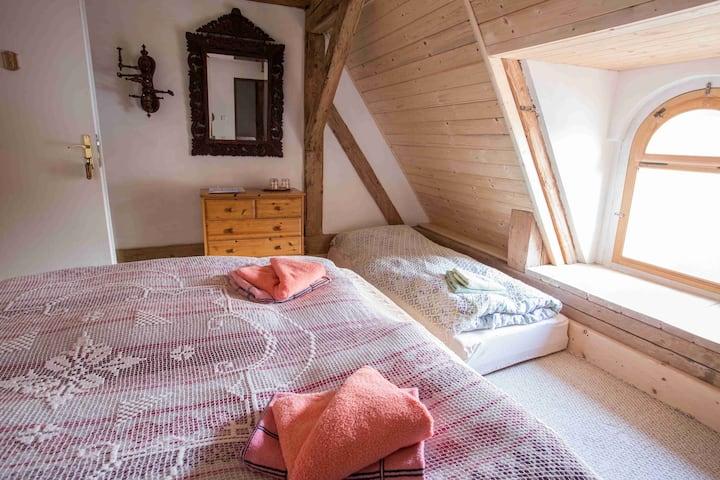 Cosy loft room at Úsobí Castle
