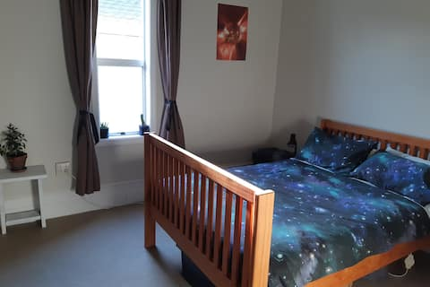 Space room in warm friendly house.