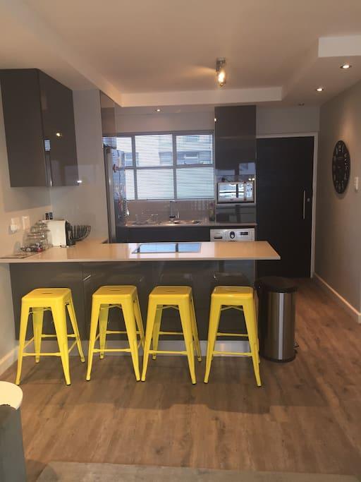 Modern open plan kitchen.