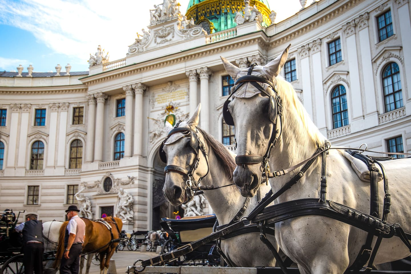 Our flat is just next to the main tour of the famous Fiaker horse carriages