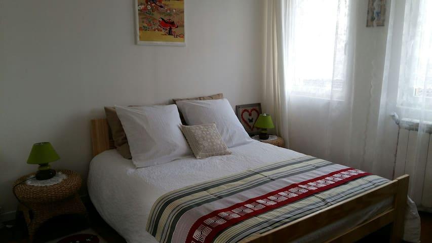 Chambre dans maison,confortable et silencieuse