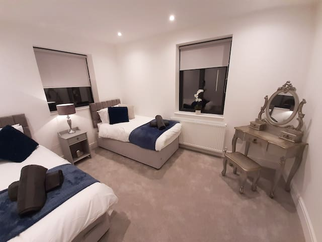 Full-size single beds