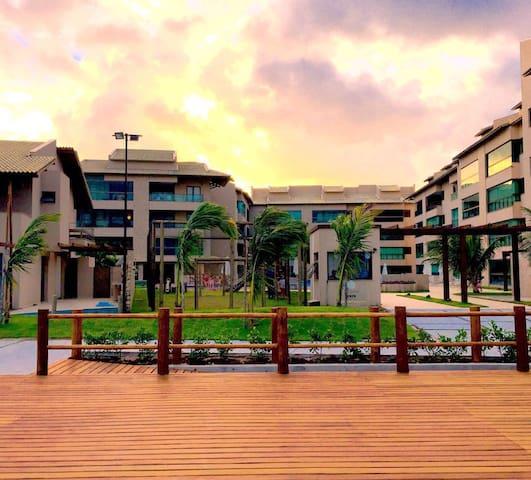 Flat térreo Ekora Residence beira mar de Muro Alto