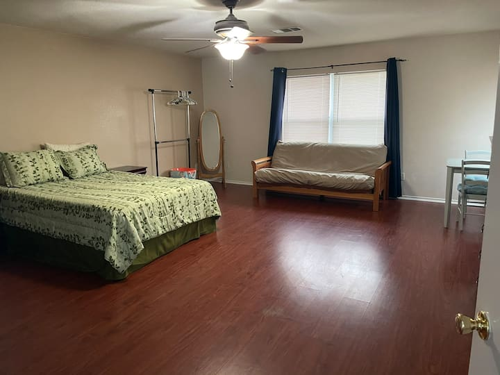 Huge room, guests feel at home