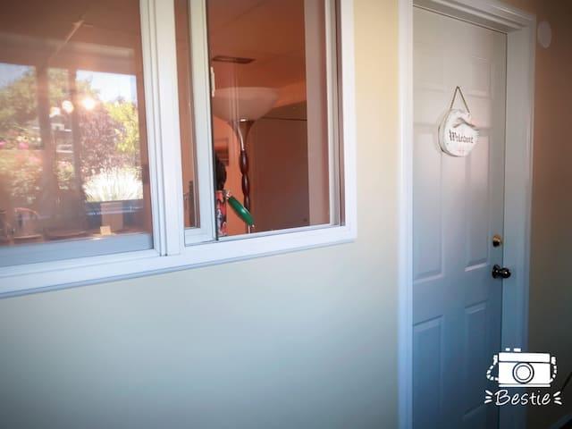 door to the suite