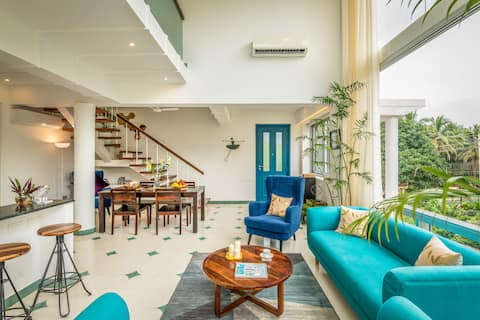 Luxuoso novo duplex - Siolim