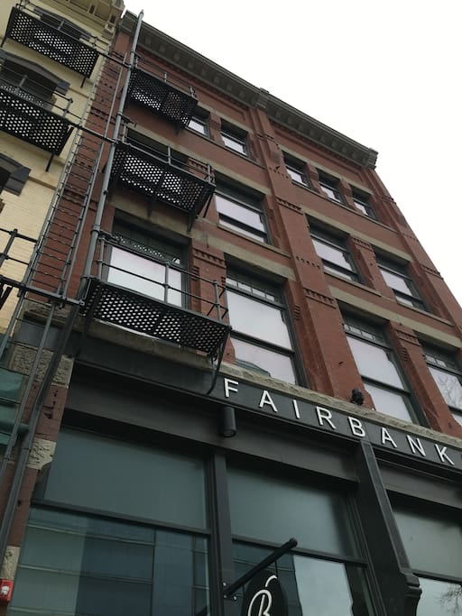 Circa 1889 building was completely renovated into luxury apartments using modern furnishings.