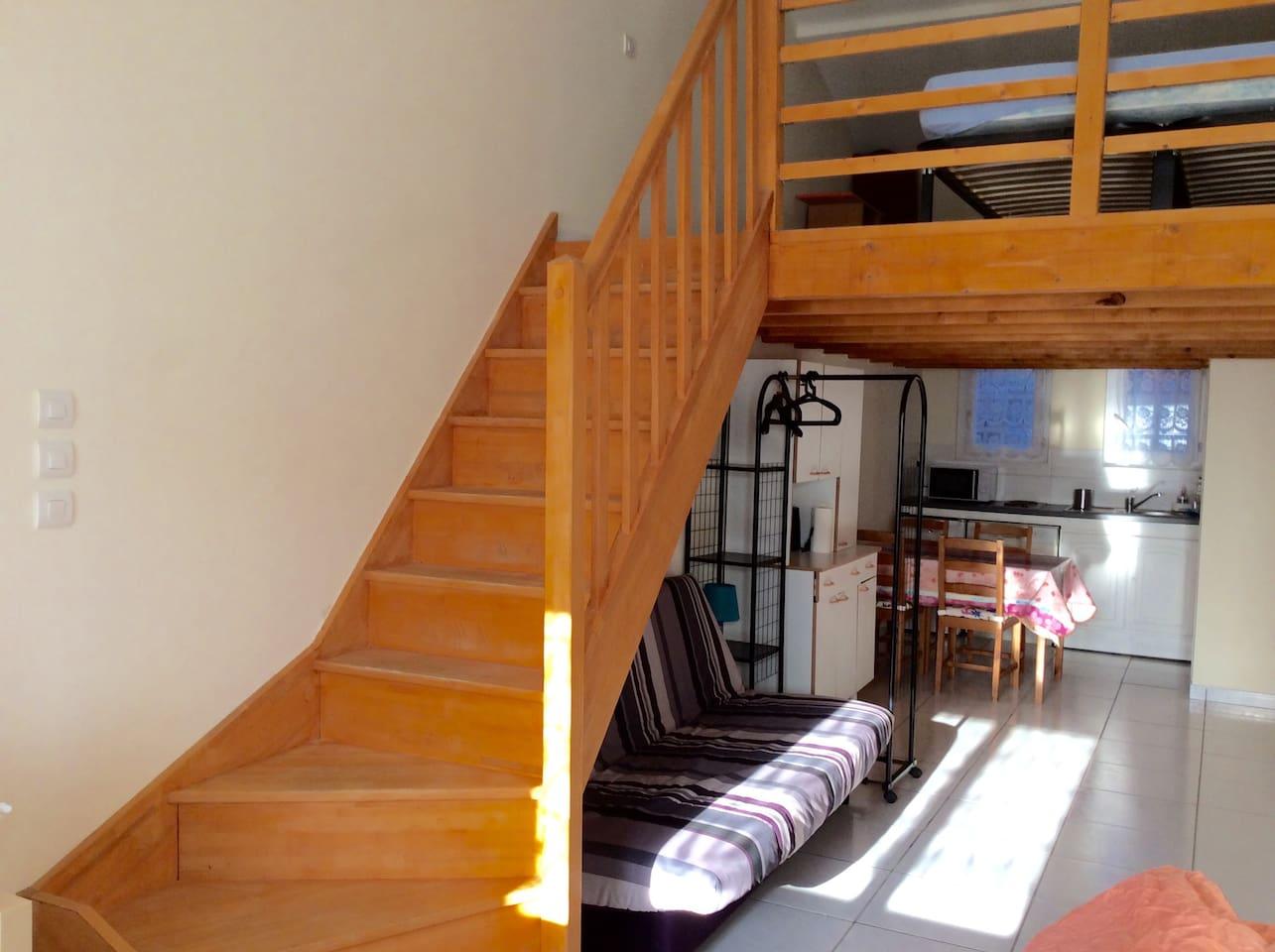 Appartement avec mezzanine