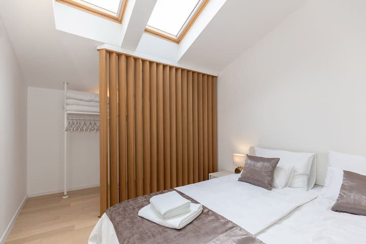 S1 bedroom #2 semi-transparent walk in wardrobe