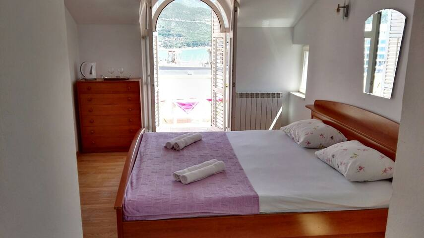 BEDROOM for 2 NEAR OLD TWN SEA VIEW - Budva