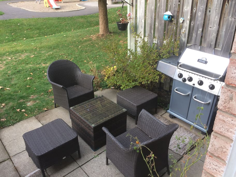 Shared Patio and barbecue
