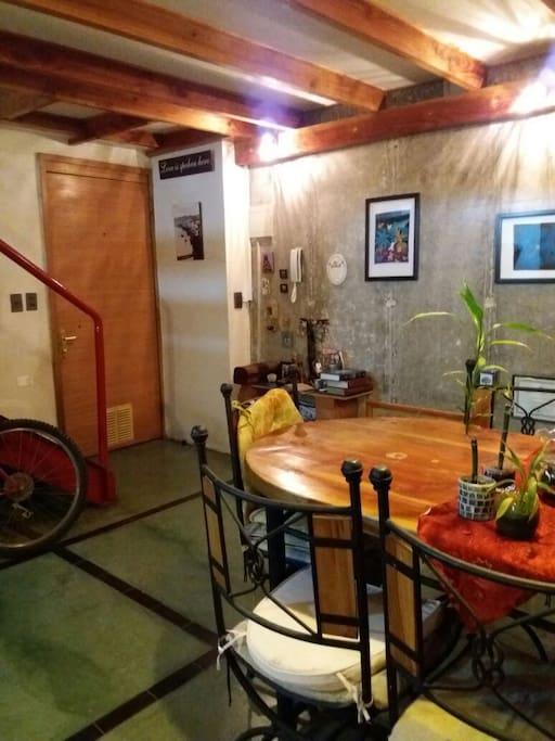 acceso al loft