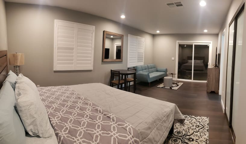 Entire place with king bed and sofa bed