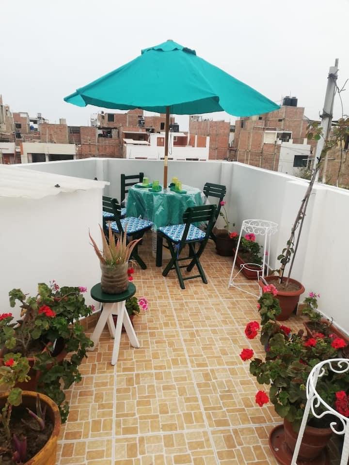 Mini depa en terraza