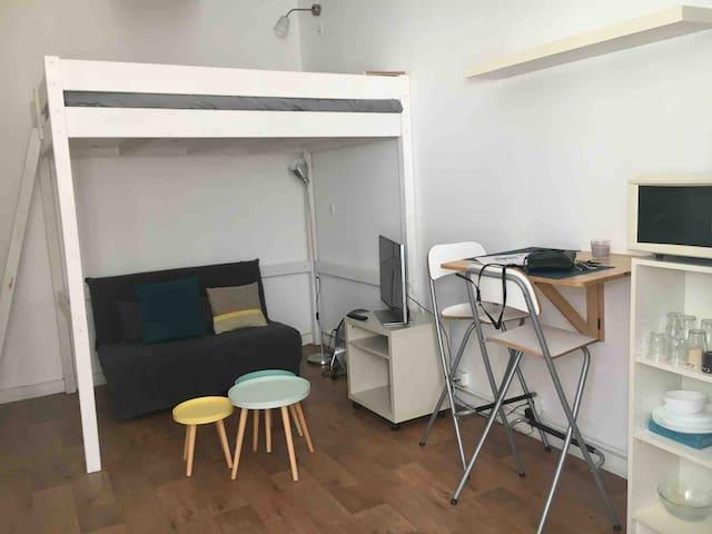 Beau studio mezzanine au cœur de Nantes. A saisir