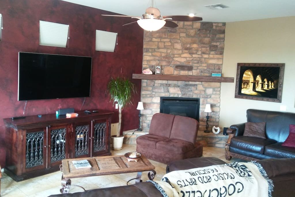Wifi throughout the house and a full media center.