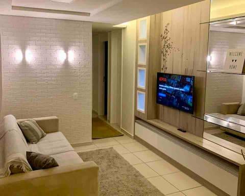 Ap moderno com wi-fi, piscina, academia e sauna
