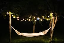 Sip a glass of wine beneath the stars (and lights!) after  a busy day in Bath!