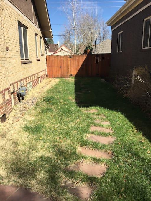 Gate to the backyard