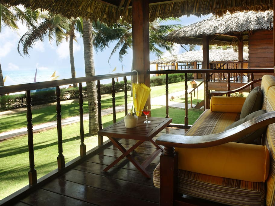 The terrace of your bungalow (location and view may differ)