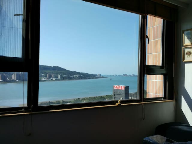 Tamsui view Japstyle room 淡水河景和室 - 新北市 - Huoneisto