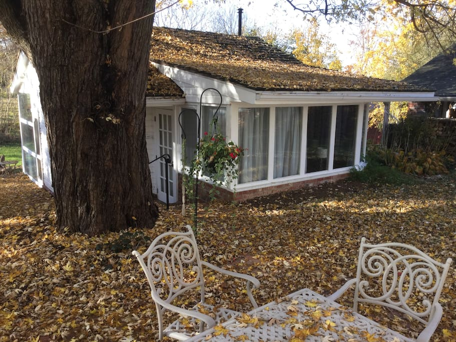 The guest house in fall