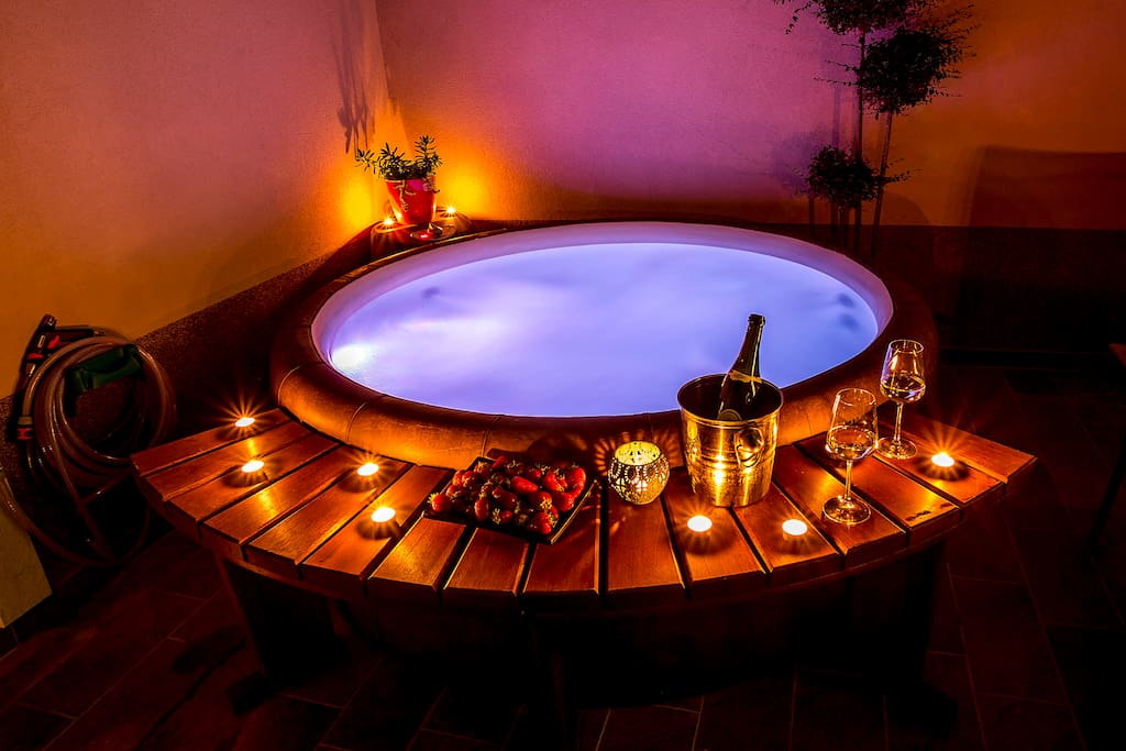 Comfortable Jacuzzi for relaxation.