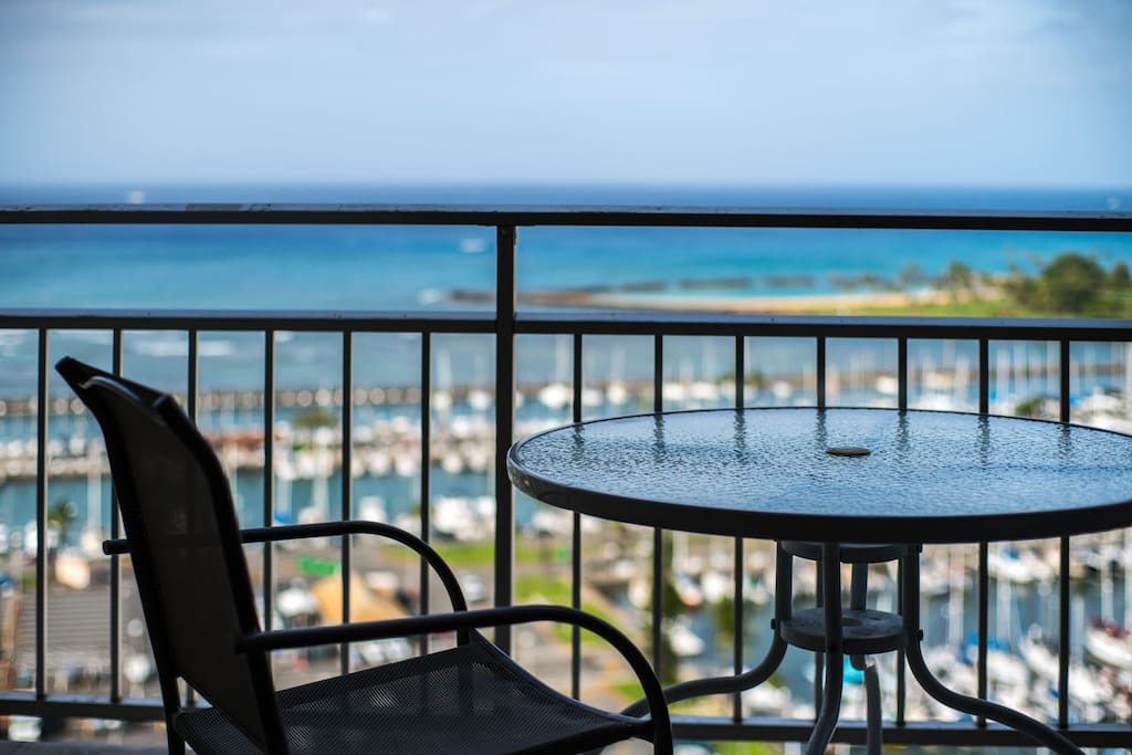 enjoy the cup of coffee with this view
