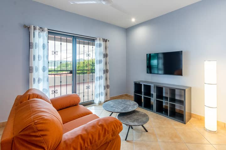 Sleek ocean-view unit in the Flamingo hills close to beach and shops