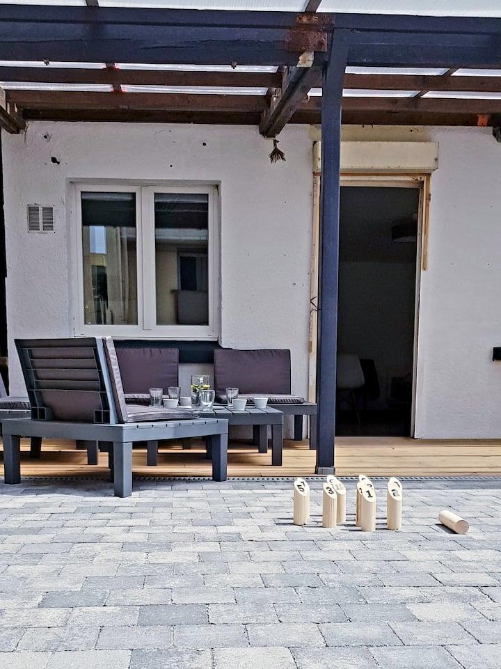 Maison 2 ch. terrasse - 150m de la plage