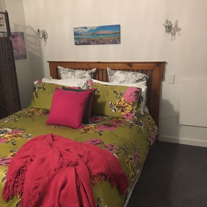 This is one of the queensize  bedrooms 100.00 for two people !  Extra people 30.00 each ! (Children only 15.00 each )This includes a continental breakfast !!