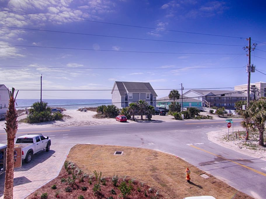 Ocean view and easy beach access across from the house