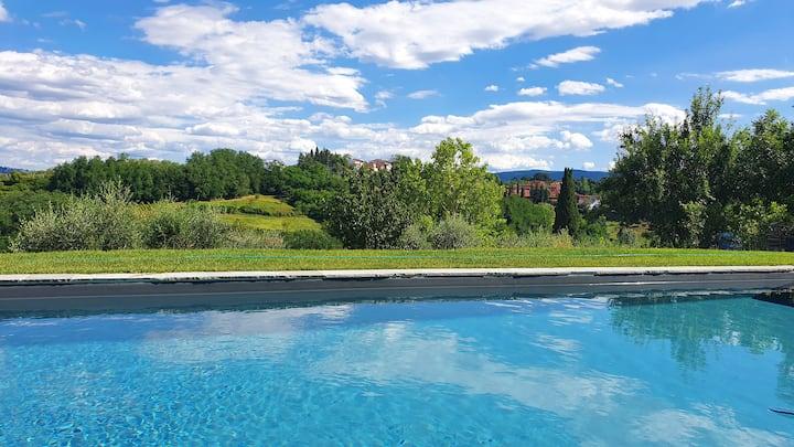 """What a View"" in der Toskana (Lari bei Pisa)"