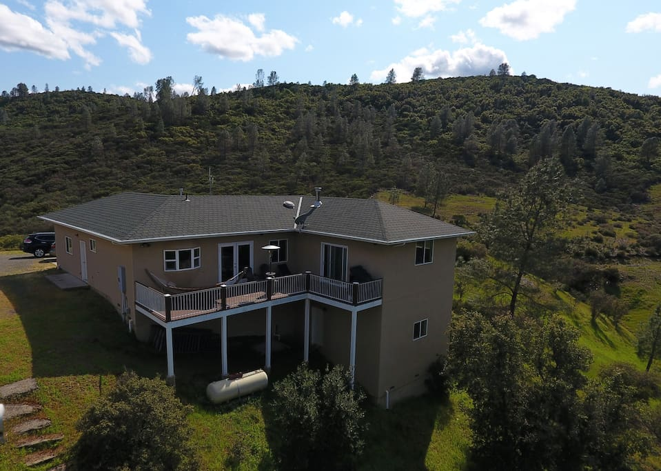 View from above the house