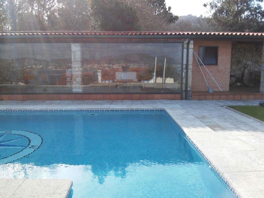 Preciosa casa con piscina en rias bajas gallegas villas - Apartamentos con piscina en galicia ...