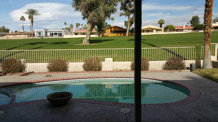 A house on Palm Desert country club golf course