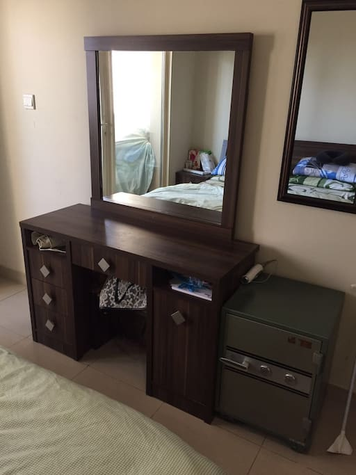 Dressing table in the bedroom.