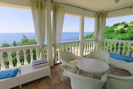 Luxury villa with large living room and a sea view - Šušanj - 別荘