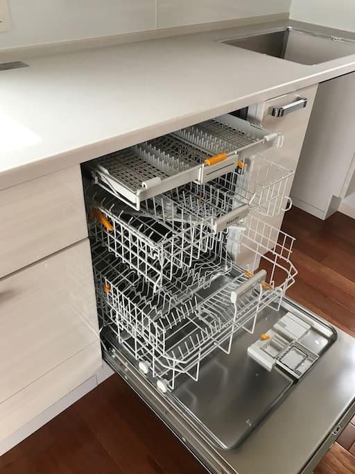 Nice big dishwasher! A rare sight in Japan.