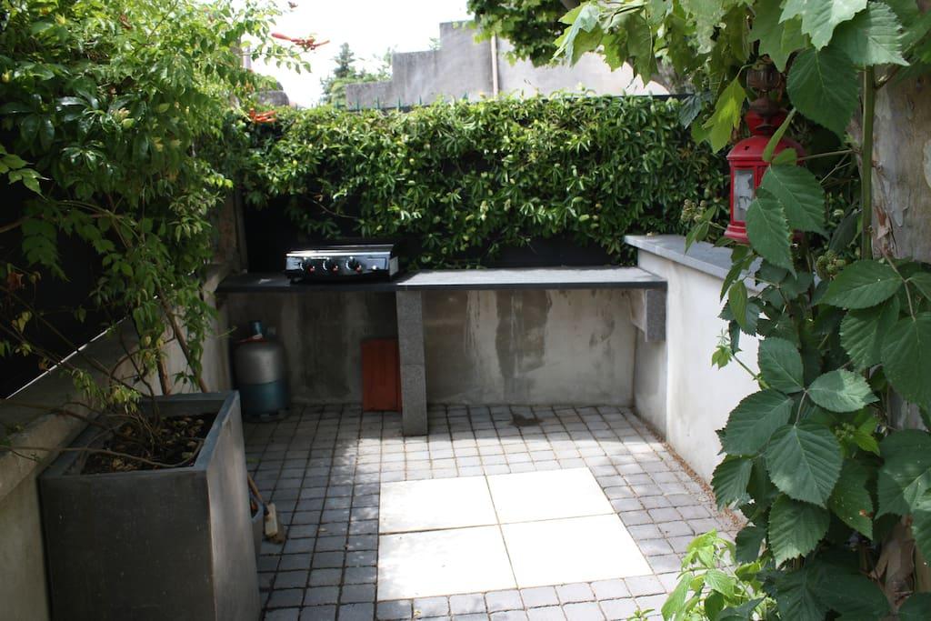 Petit espace cuisine d'été