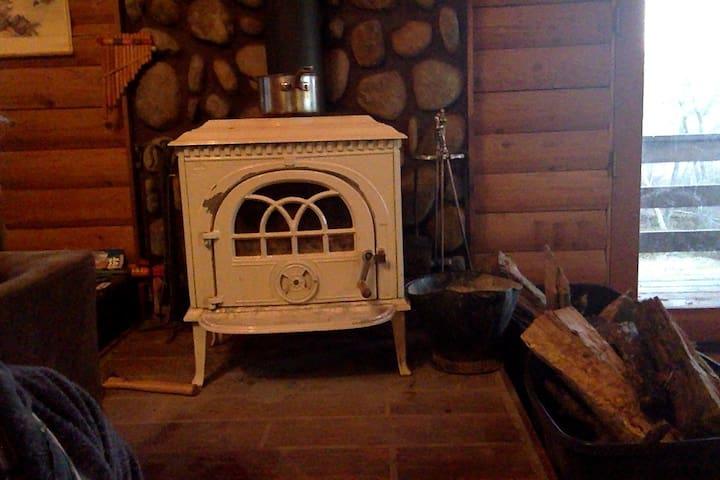 charming log cabin set on 20 wooded acres