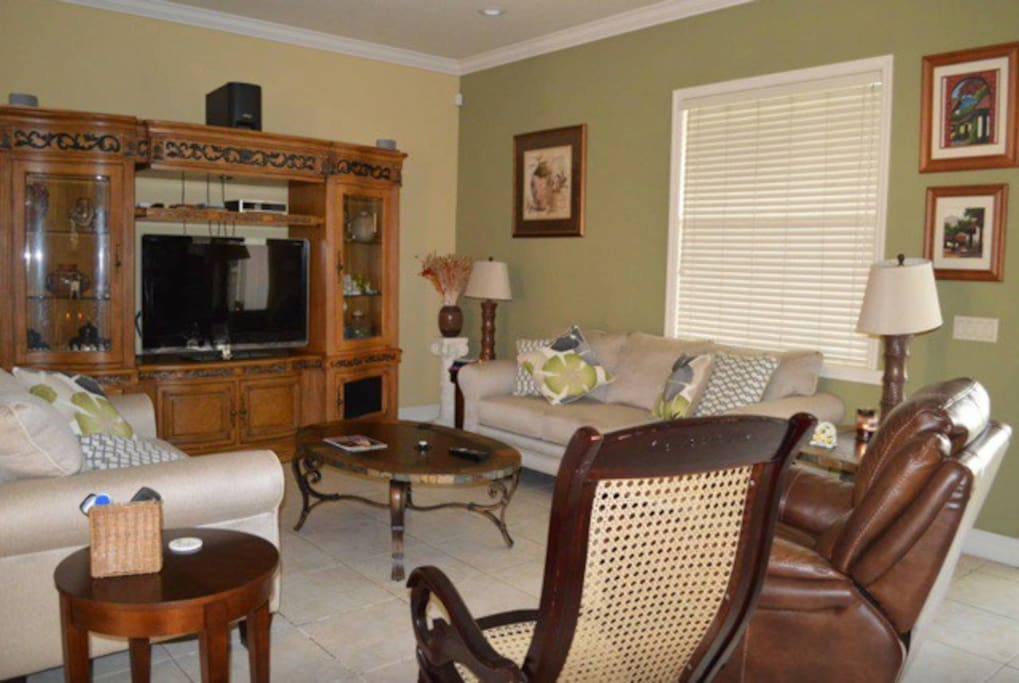 Open concept family room - spacious and comfortable to watch TV.